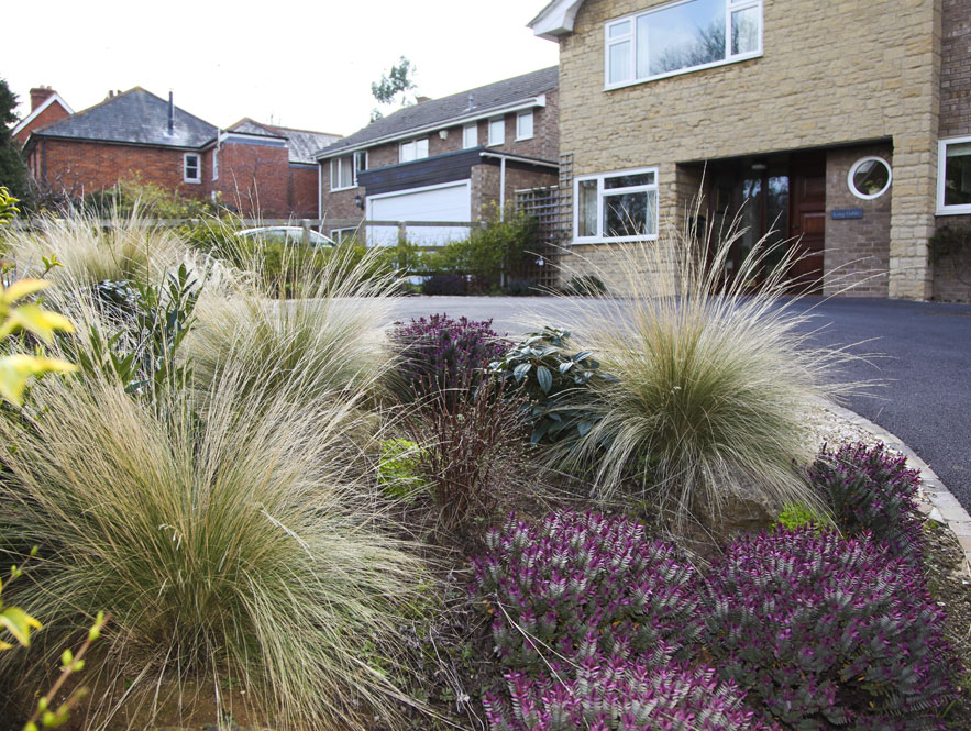 Low Maintenance Front Gardens - Front garden driveway ideas uk
