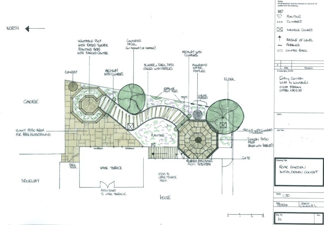 A productive family garden for Garden design plans uk